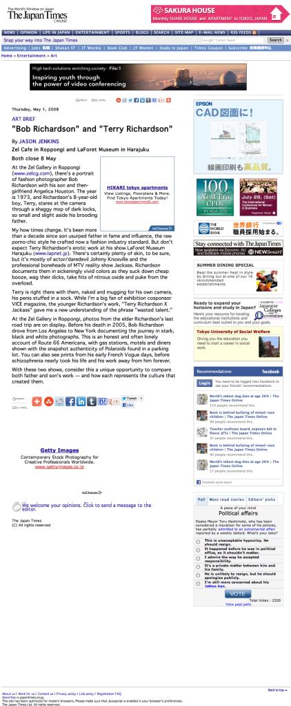 """Bob Richardson"" and ""Terry Richardson"" | The Japan Times Online"