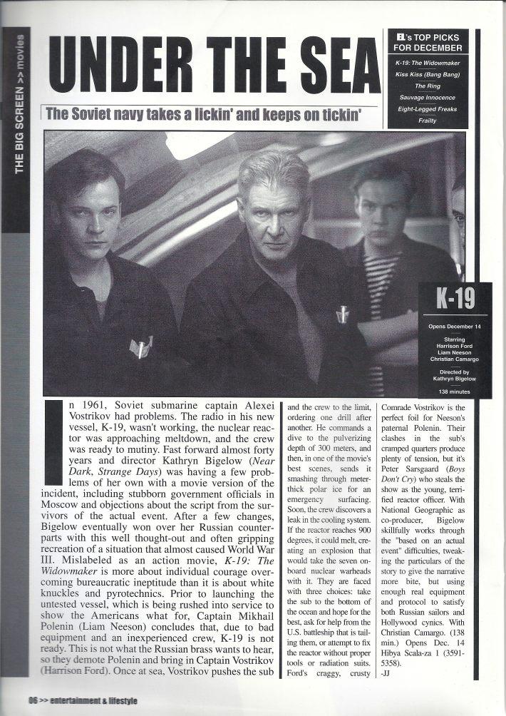 EL Magazine - Movie Review: K-19