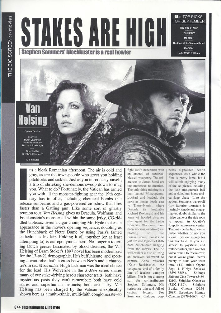 EL Magazine- Movie Review: Van Helsing