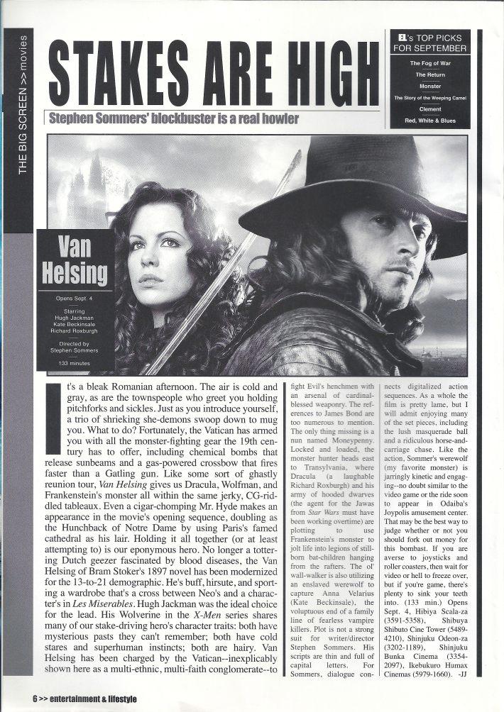 EL Magazine- Movie Review: Van Helsing